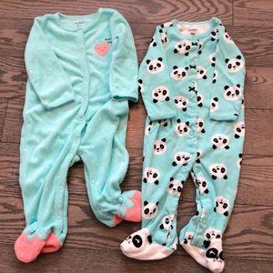 Carters footed pajamas